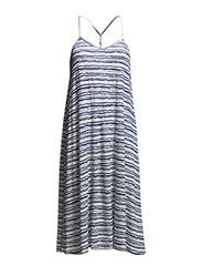 SUMMER DRESSES STRIPED - STONE BLUE