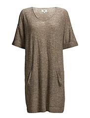 Dress short sleeve - ROSE BROWN