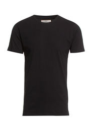TOM - T-SHIRT - DEEP O-NECK - Black