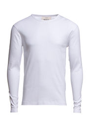 LARRY - T-SHIRT L/S - RIB -O/N - White