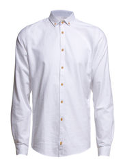 SHIRT L/S - OXFORD - White