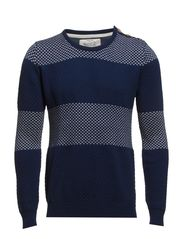 PULLOVER- BUTTONS ON SHOULDER - Night blue