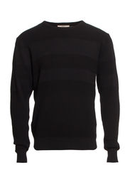 PULLEROVER - STRIPED JACQUARD - Black