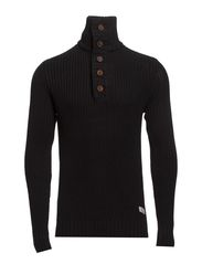 PULLEROVER - HEAVY KNIT - Black
