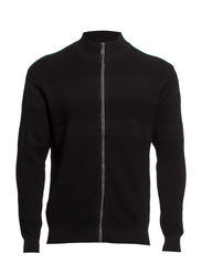 CARDIGAN - STRIPED JACQUARD - Black