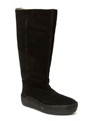 High curling Boot - Black