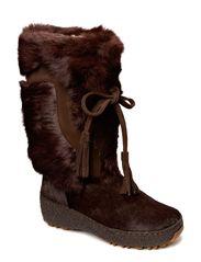Fur boot - Dk. Brown