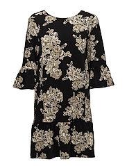 Ashlee Short Dress - NUDE PEONY