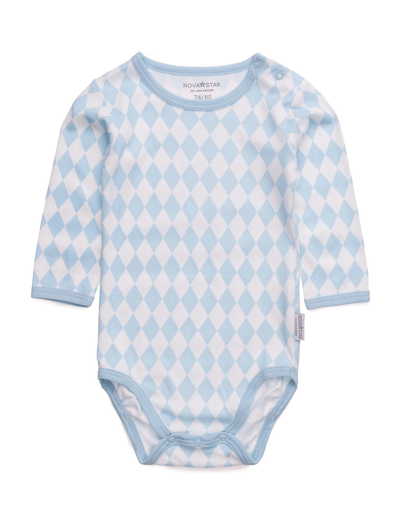 Blue Square Body NOVA STAR Langærmede bodies til Børn i Blå