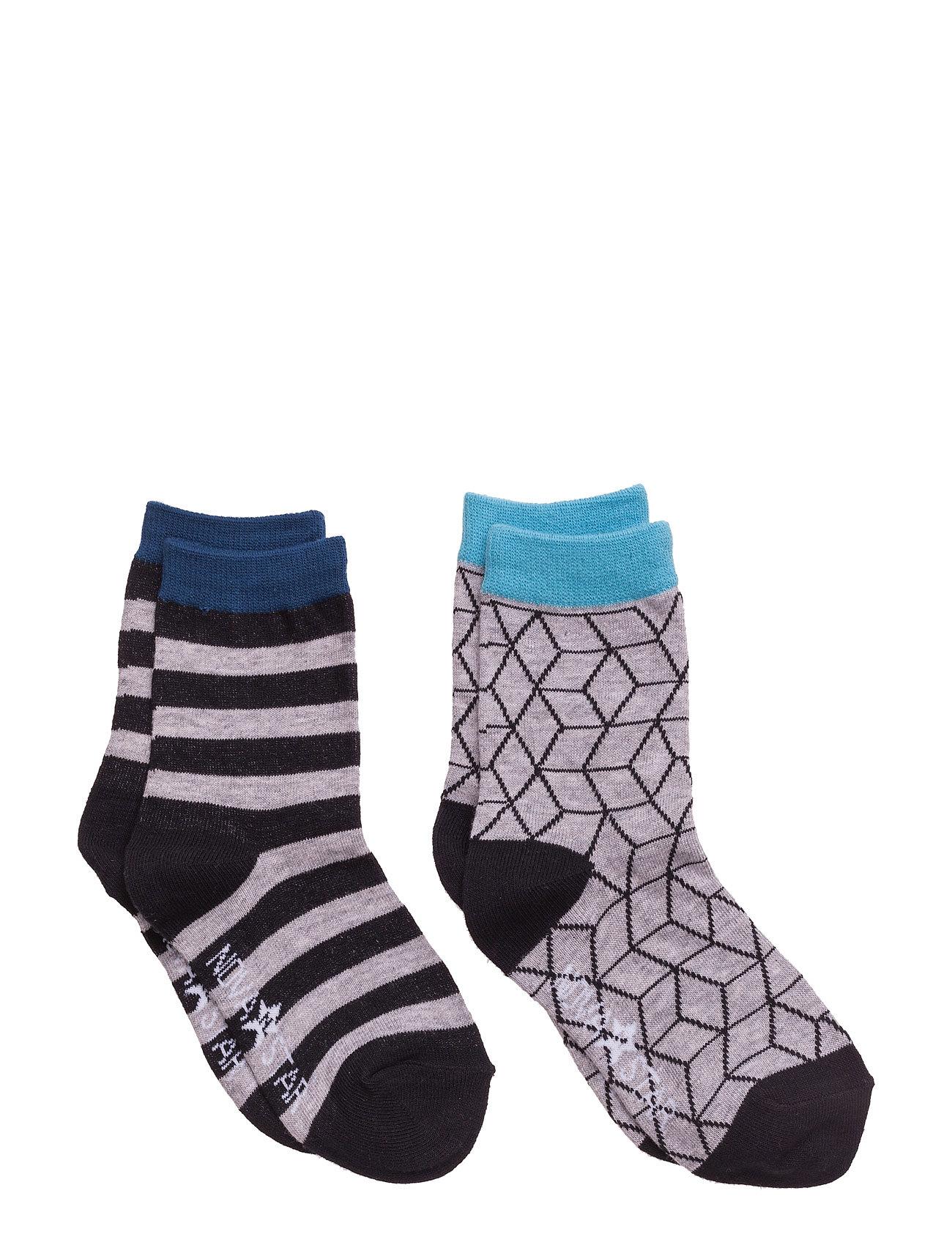 Grey Cube Socks NOVA STAR Strømper & Strømpebukser til Børn i Grå
