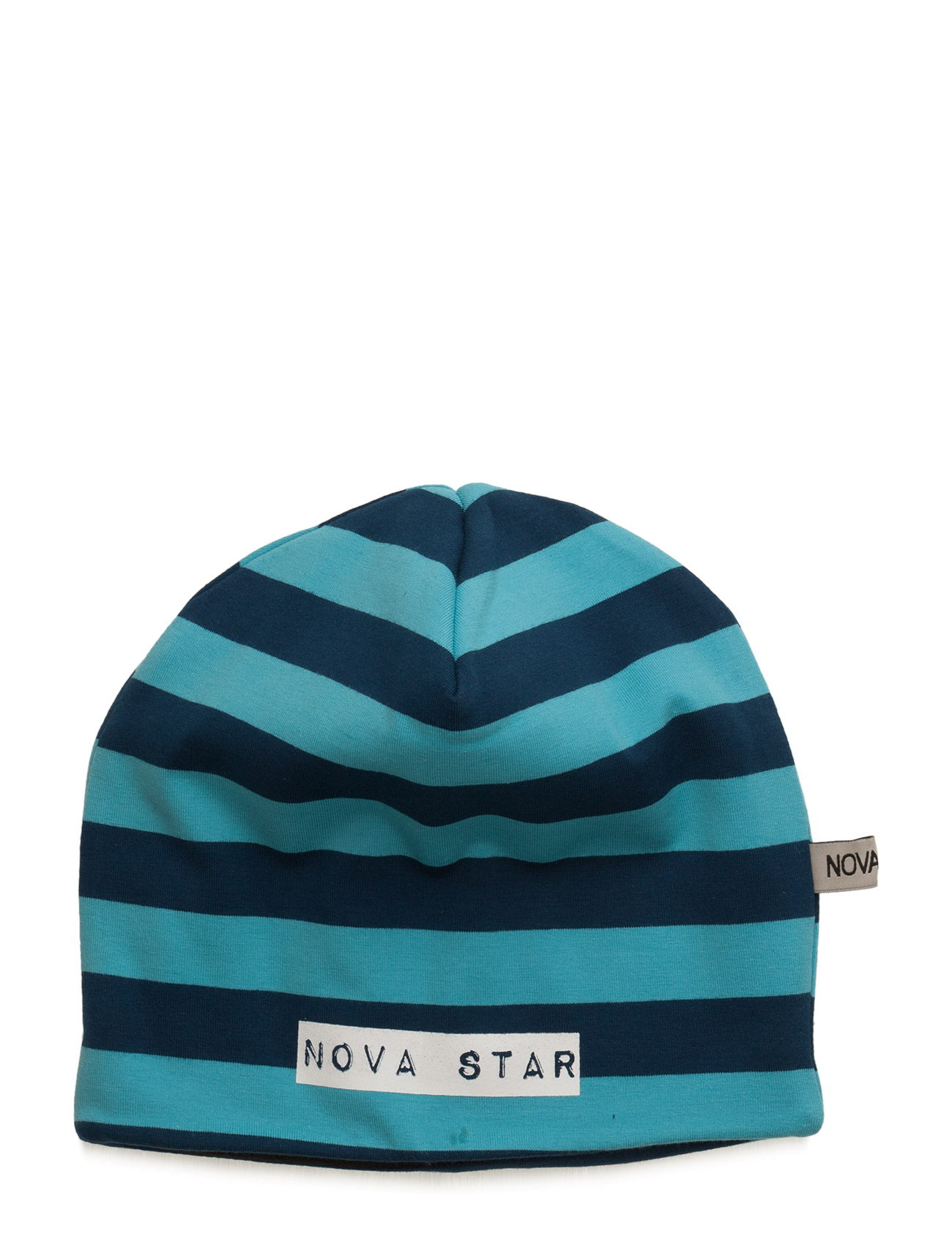 W-Beanie Striped Blue NOVA STAR Tilbehør til  - MoteJakten.no