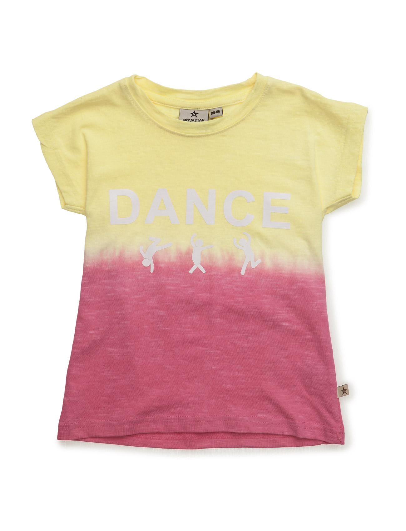 Dip Dye Lemon Dance NOVA STAR Kortærmet T-shirts