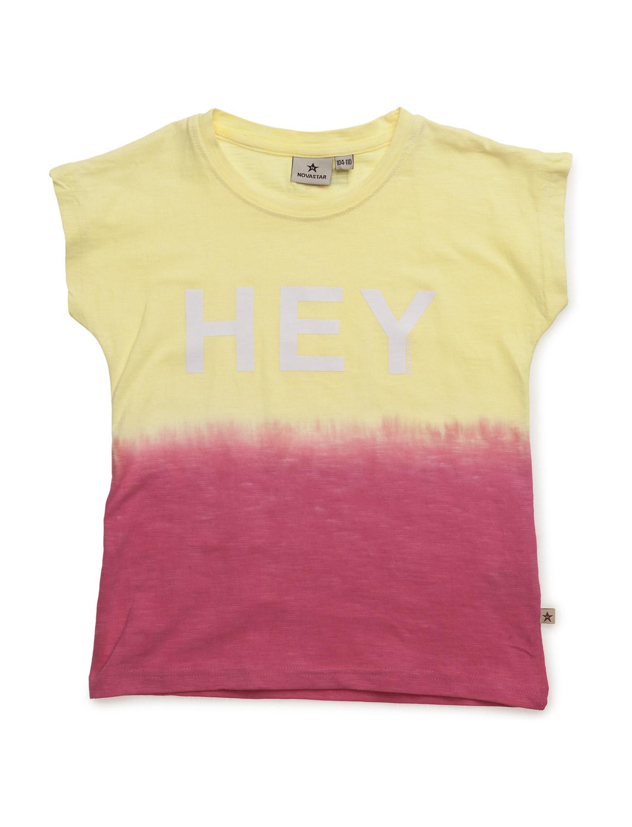 Dip Dye Lemon Hey NOVA STAR Kortærmede t-shirts til Børn i Lyserød