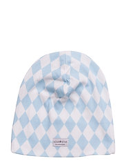 Blue Square Beanie - BLUE