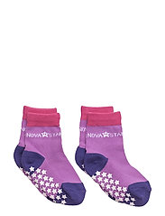 Anti-Slip Purple Socks - PURPLE