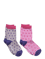 Dot Socks - PINK GREY