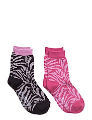 Zebra Socks - PINK GREY