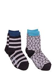 Grey Cube Socks - GREY