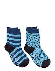 Blue Cube Socks - BLUE
