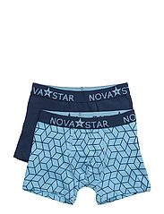 Cube Boxer Shorts - BLUE