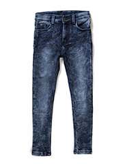 Tapered soft denim - BLUE
