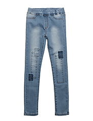 Patched slim Denim - BLUE