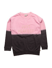 Long Sweater Pink Pe - DARKGREY/PINK