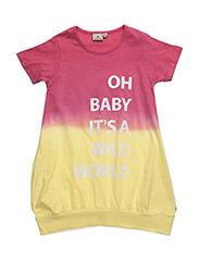 Dress wild world Dip Dye - PINK/YELLOW