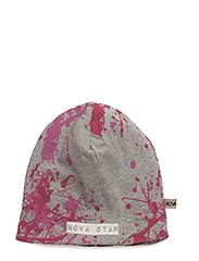 W-Beanie Splash Pink - GREY