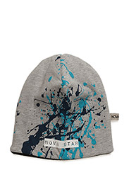 W-Beanie Splash Blue - GREY