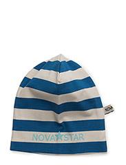 Striped Beanie Sea Blue - BLUE