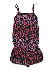 Short Animal Jumpsuit Pink