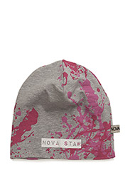 Beanie Splash Pink - GREY