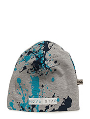 Beanie Splash Blue - GREY
