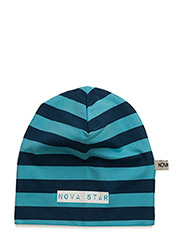 Beanie Striped Blue - BLUE
