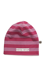 Beanie Striped Pink - PINK