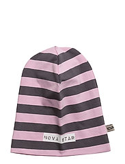 Beanie Striped Pink - PINK/DARKGREY