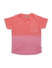 Dip Dyed Coral T - PINK/CORAL