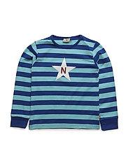 Striped T Indigo - BLUE