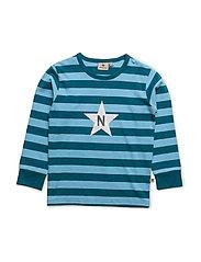 Stripe T Jade Green - PETROL/BLUE