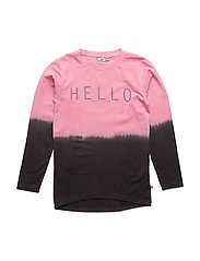 Hello LS Top - PINK/DARKGREY