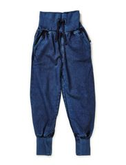 Cosy Denim Trousers - BLUE