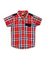 Checkered Shirt Red - RED