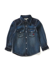 Denim Shirt Dark - BLUE