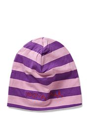 Striped Beanie - Purple / Pink