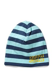 Striped Beanie - Blue