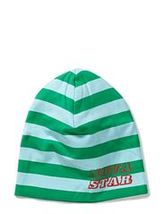 Striped Beanie - Green