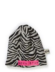 W-Beanie Zebra - GREY