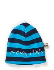 W-Beanie Striped Night - BLUE