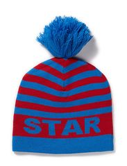 Knit Beanie Chilli - Blue / Red